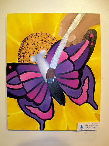 God Painting a Butterfly by Allysa Engel