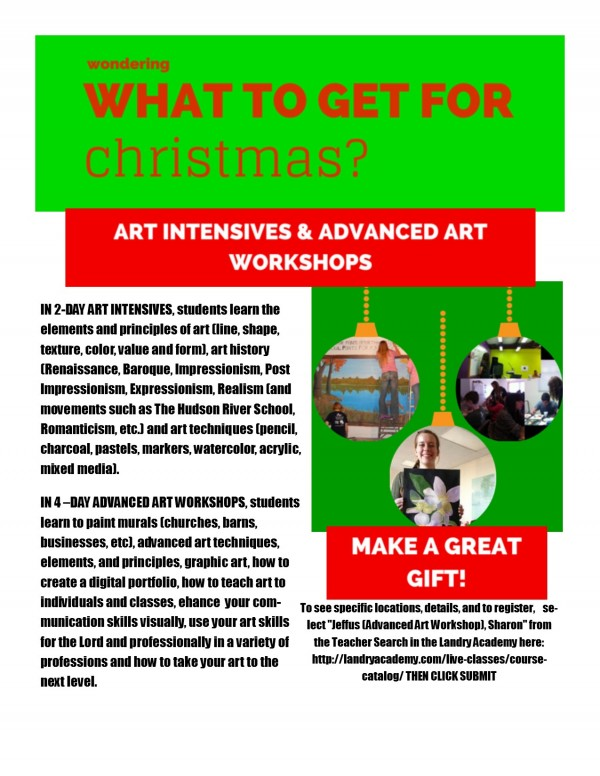 Landry Academy Gift Flyer December 2014 blog post