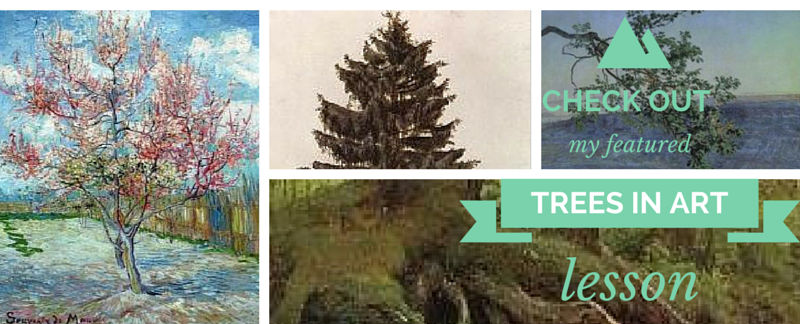 Check out my featured _Trees in Art Lesson_ at Hip Homeschool Moms and at The End in Mind! Enjoy!