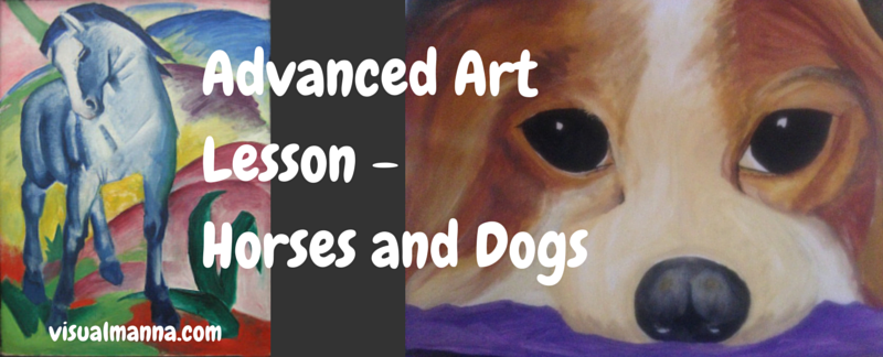 Advanced Art Lesson Sample - Horses and Dogs