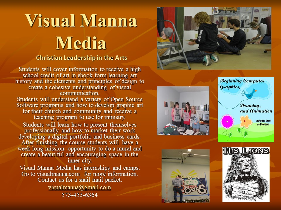 Visual Manna Media flyer one finished