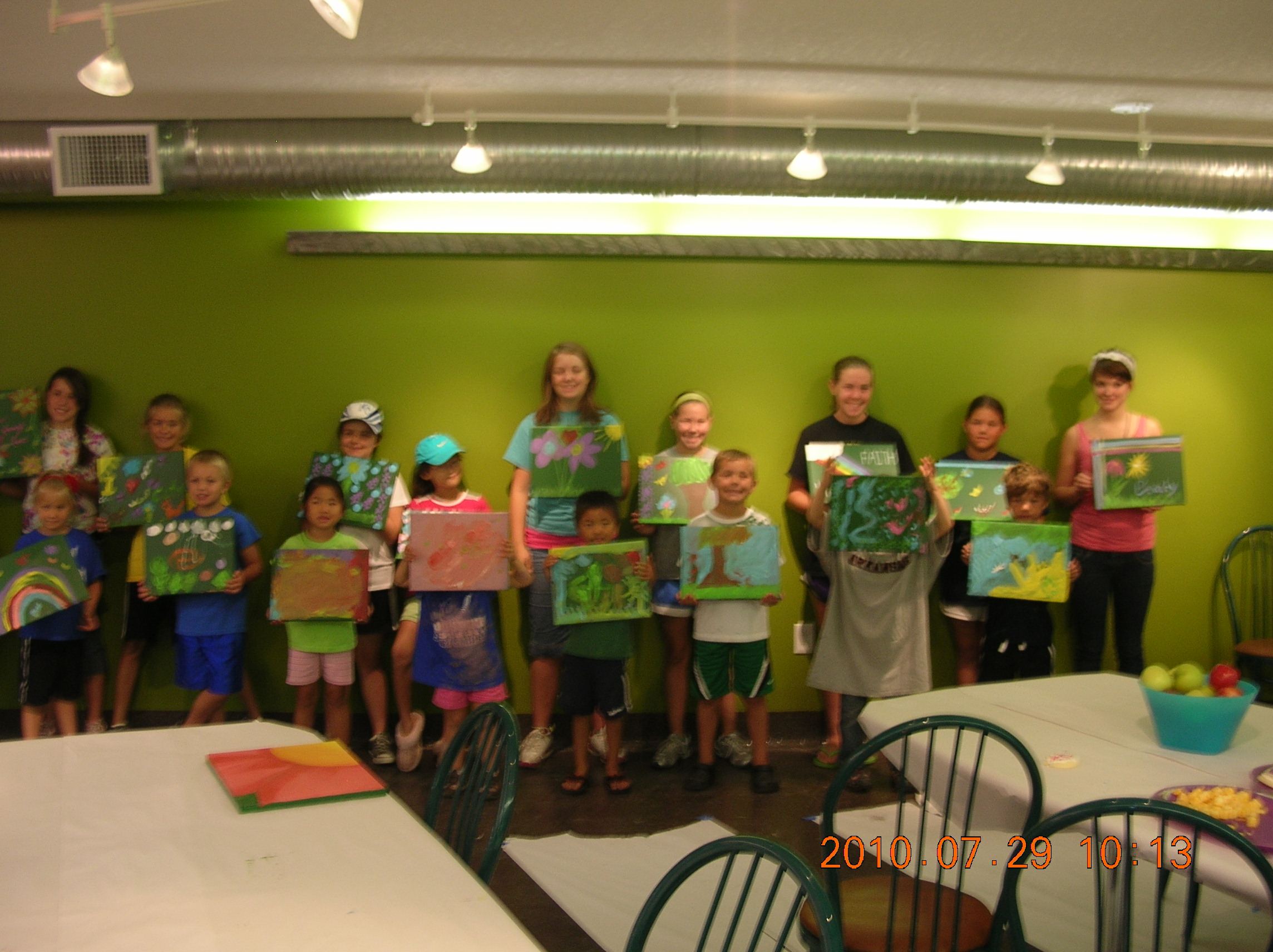 Young Lions helped Jennifer Bertrand paint a soup kitchen downtown.